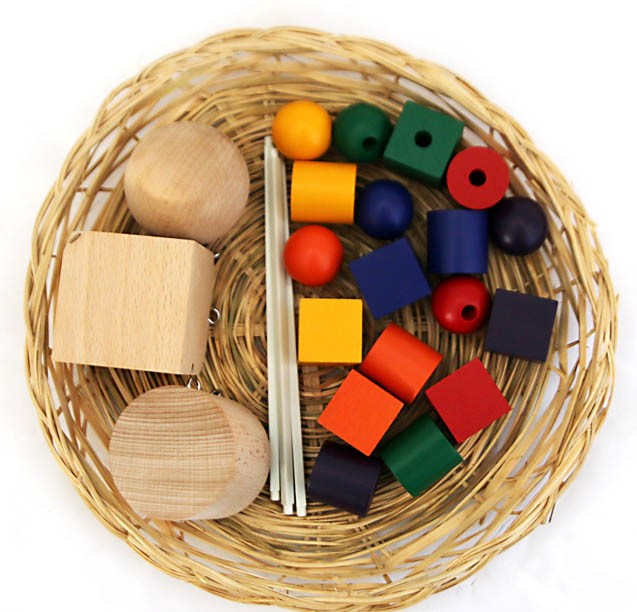 Basket-with-Geometric-Shapes